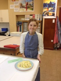 Keely-Anne with her finished dish