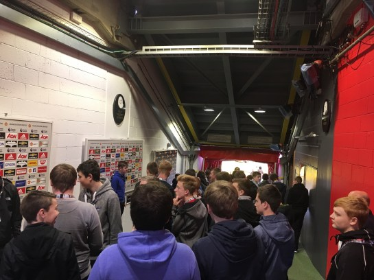 The tunnel at Old Trafford