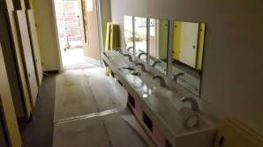 Nursery toilet and wash basins