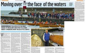Wicklow People Newspaper feature about Wicklow Rowing Club with Rob Dunne interview