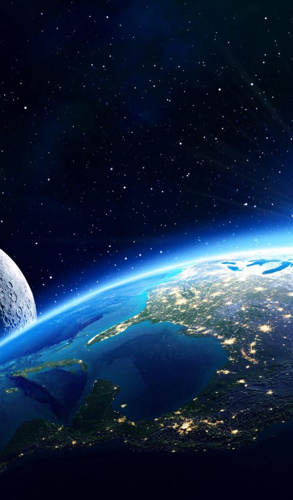 Планета Земля вид из космоса — Обои на рабочий стол HD ...