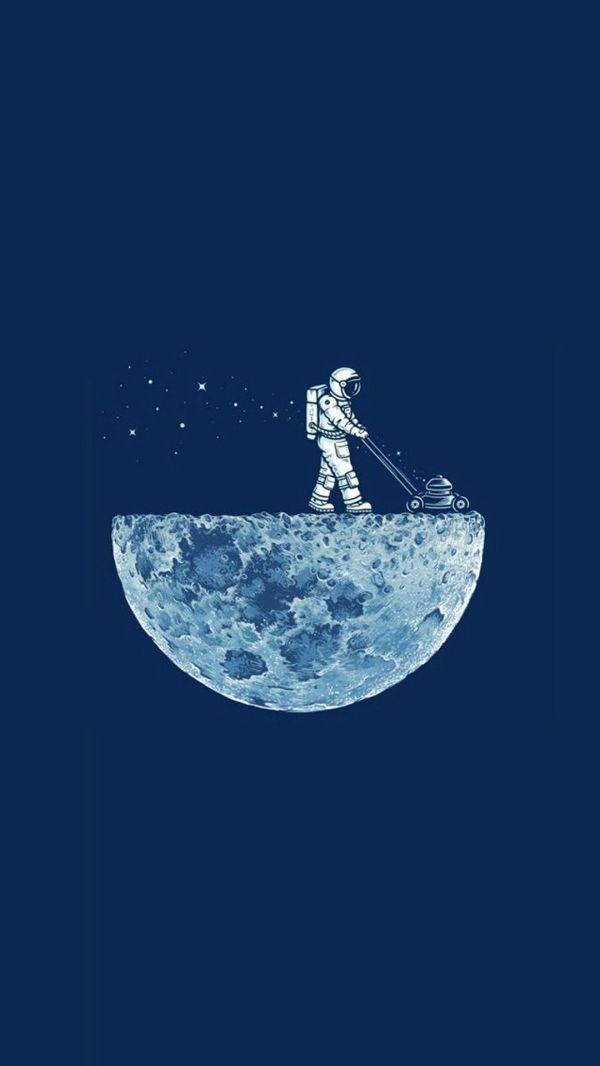 Картинки космос луна на обои телефона — Обои на рабочий ...