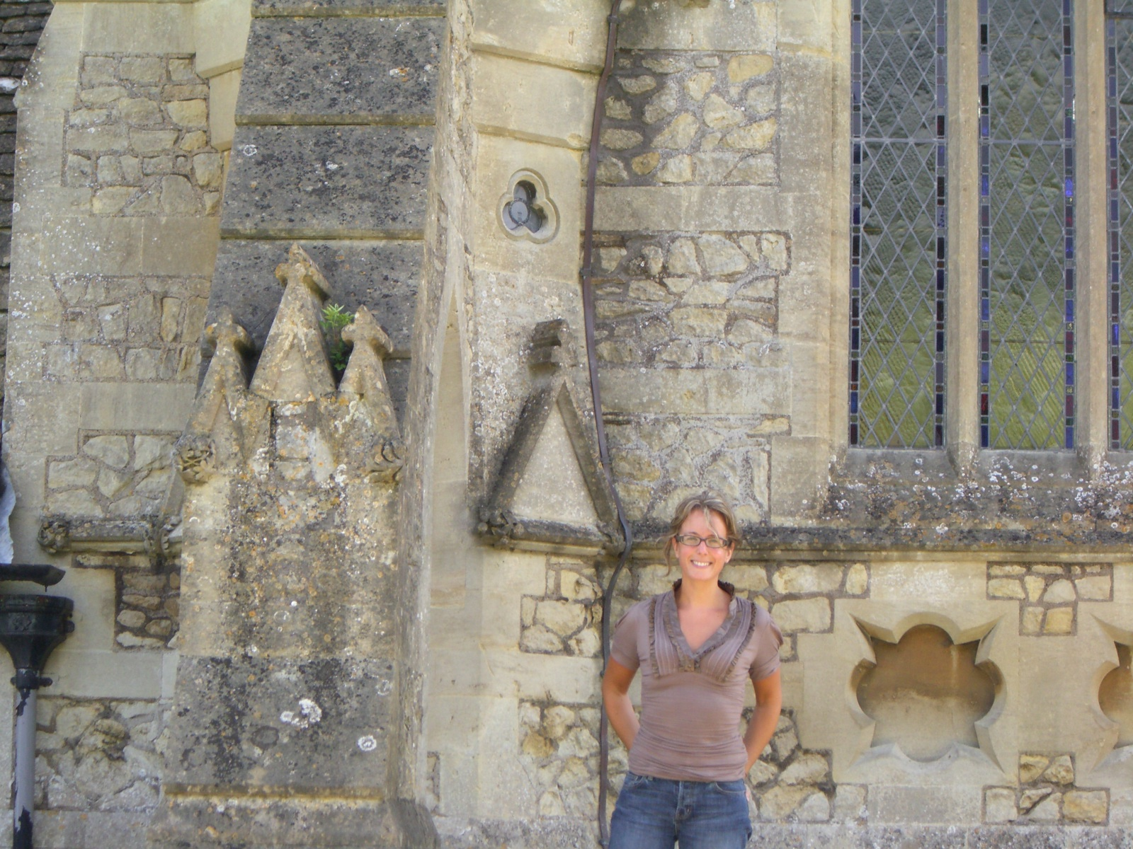 V by church outside Bath, England (apologies to the owner of the tombstone I had to use to prop up my camera)