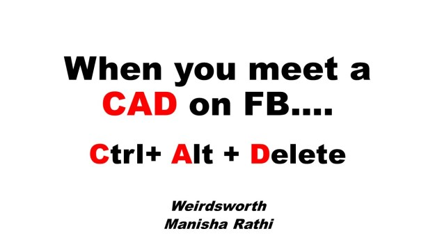 When you meet a CAD on FB
