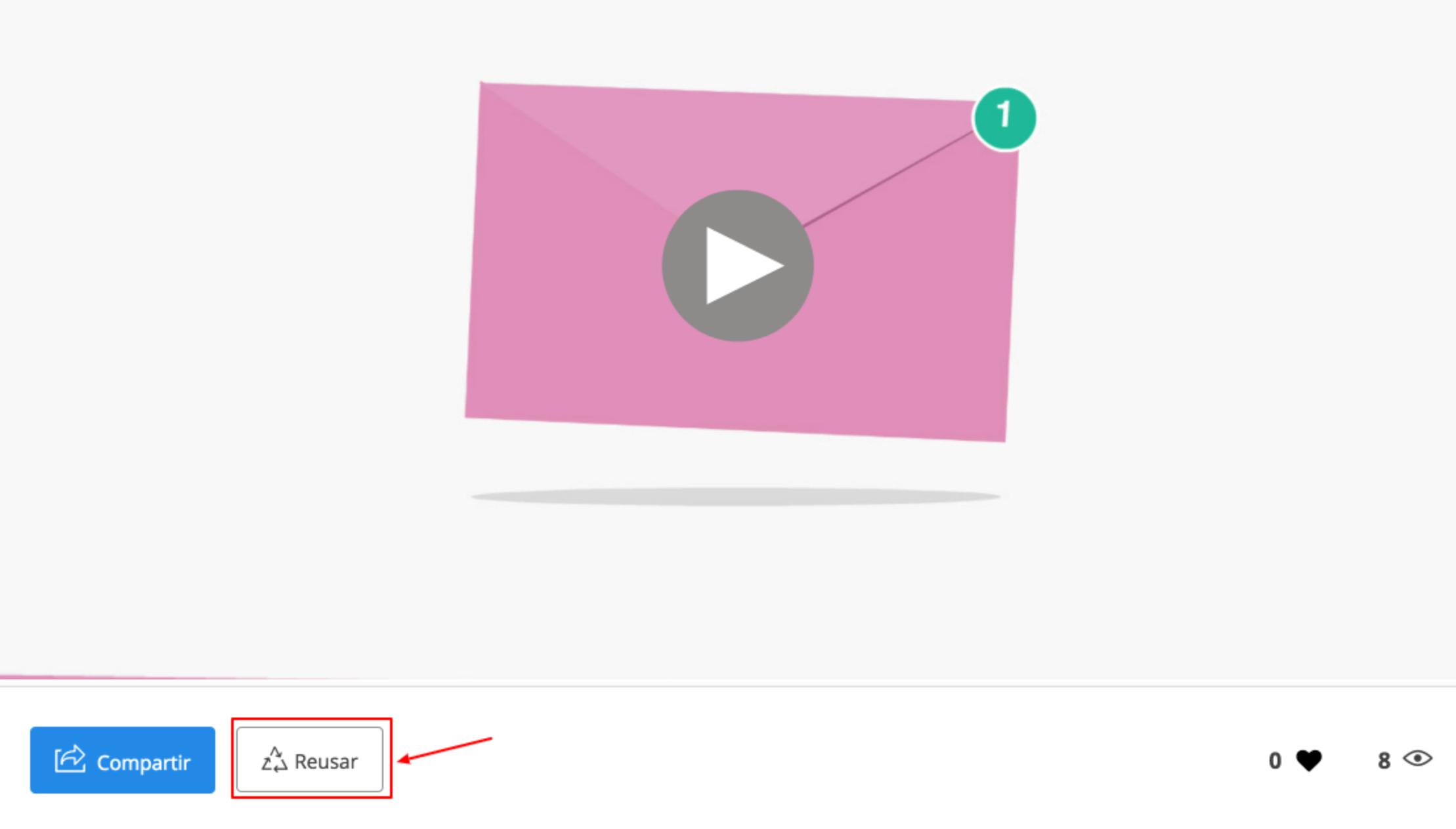 imagen mostrando boton reusar