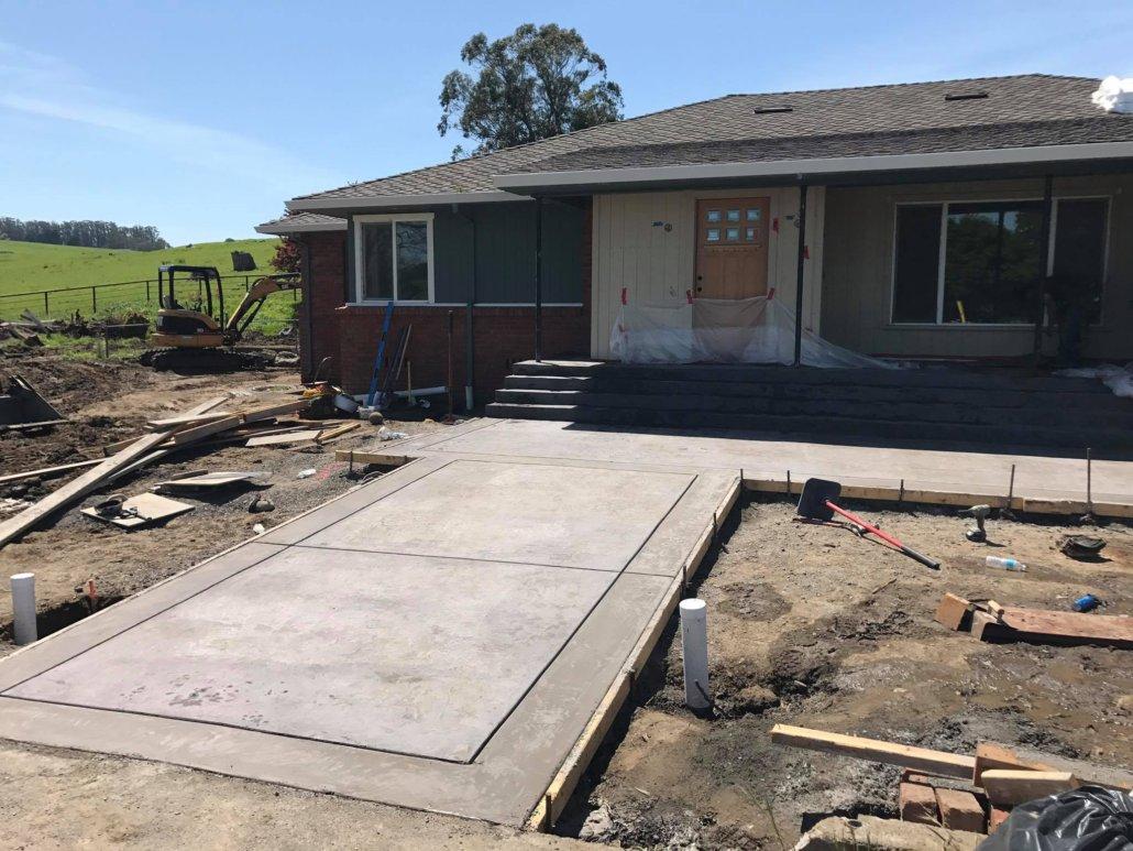 concrete front porch designs wide