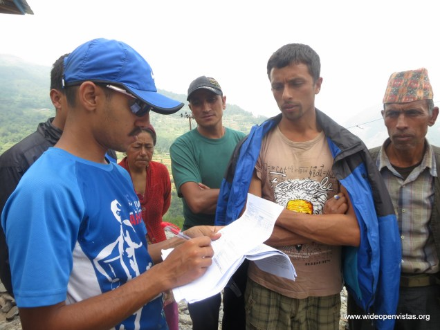 Sudeep conducting a community assessment