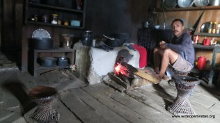 We dried out in a tea house at the top of a climb - RaRa noodles, Kokuri Rum and a fire will do the trick.