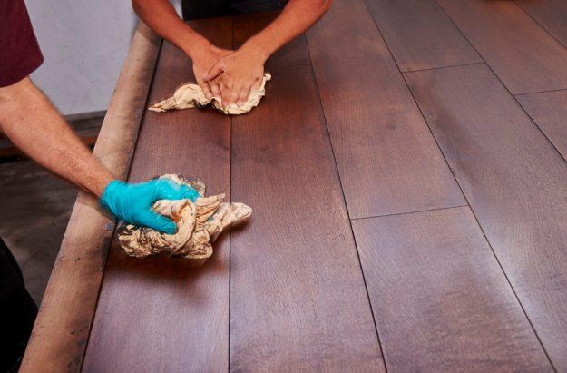 Custom floor finish