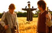 Frodo ja Sam lähtevät matkalle.