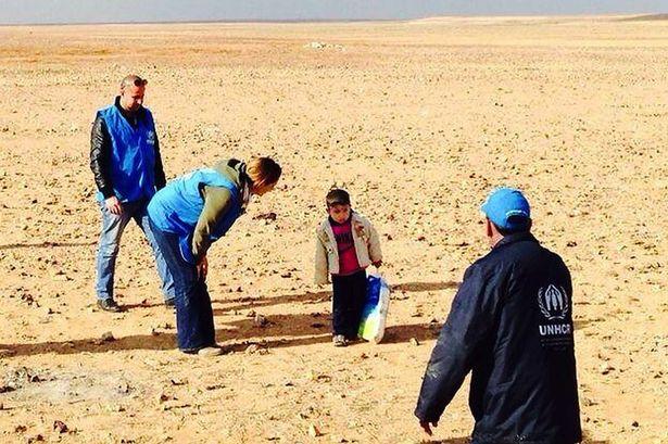 Syria 4 year old desert