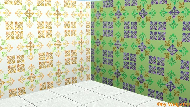 Florales Ornament 4 – Muster Sims 3