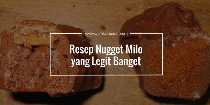 Resep Nugget Milo yang Legit Banget