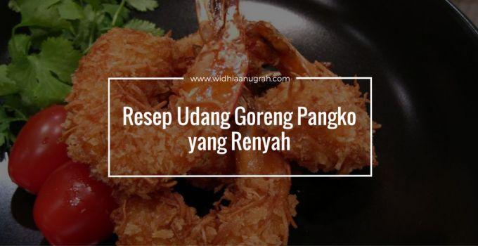 Resep Udang Goreng Pangko yang Renyah