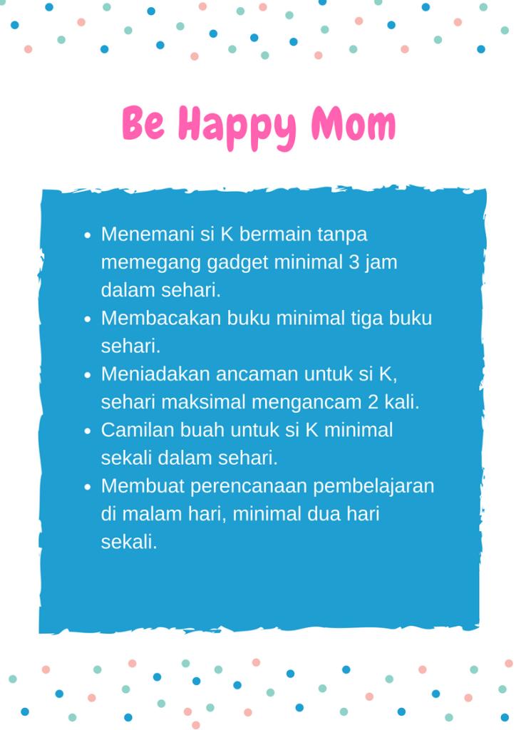 Checklist Indikator Pribadi sebagai Ibu