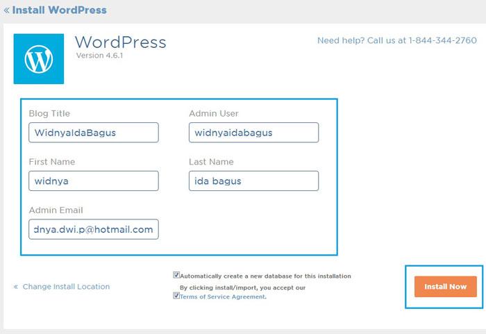 instalasi wordpress di hostgator