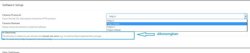 Install wordpress via softaculous app installer