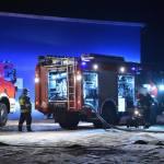 Pożar na terenie zakładu przy ul. Koronowskiej w Sępólnie Kraj.