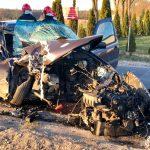 Wypadek na skrzyżowaniu w Trzcianach