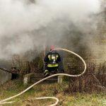 Pożar pustostanu w Iłowie