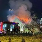 Pożar chlewni w Wiśniewce