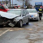 Sępólno Kraj.: Kolizja dwóch samochodów na ul. Kościuszki