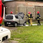 Sępólno Kraj.: Pożar Seicento na ul. Kościuszki