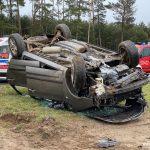 Groźny wypadek na krajowej 25 pod Sępólnem Krajeńskim