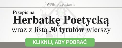 herbatka poetycka oraz lista 30 tytułów wierszy