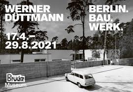 """Ausstellungsplakat """"Werner Düttmann. Berlin. Bau. Werk"""", Brücke-Museum, Gestaltung: Stan Hema © Brücke-Museum"""