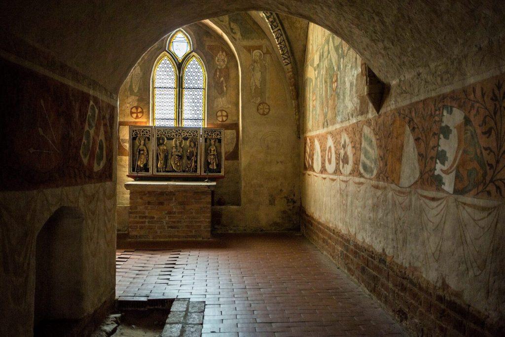 Kaplica gotycka w klasztorze