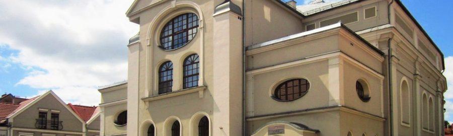 Dawna synagoga w Lesznie. Obecnie galeria sztuki.