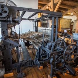 Muzeum Historii Przemysłu w Opatówku. Dawne maszyny przędzalnicze