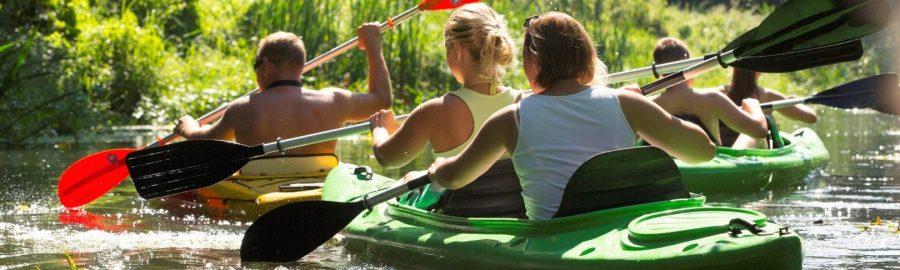 Spływ kajakowy na rzece Wełnie