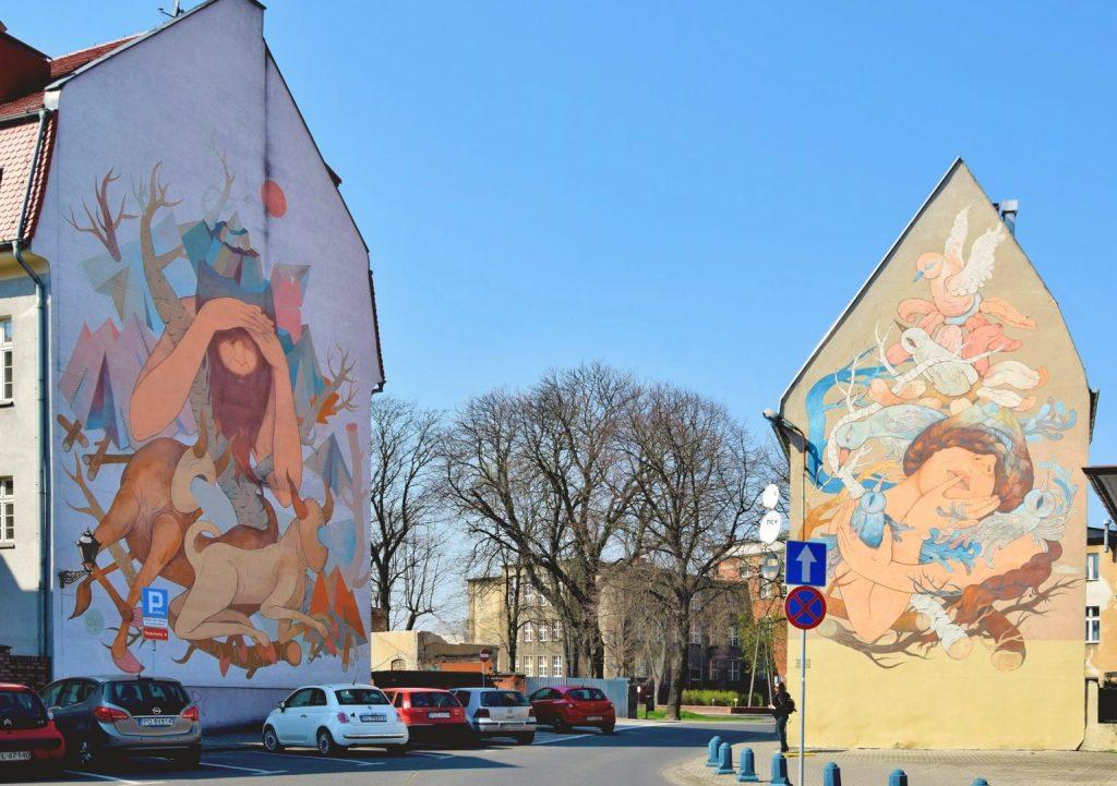 Mural w Lesznie