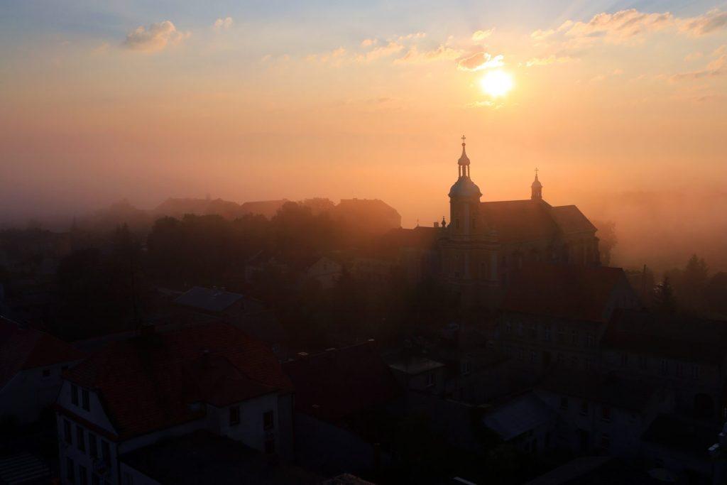 Pyzdry panorama miasta