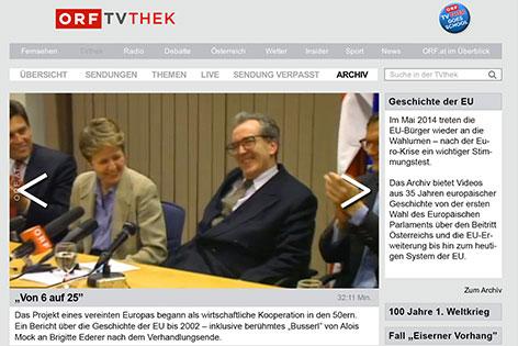 ORF-TVthek für den Unterricht