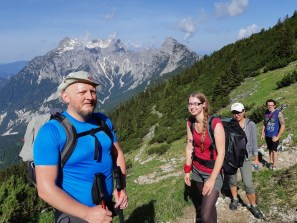Aufstieg auf den Tamischbachturm