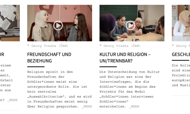 Online Ausstellung / Videos: Schulgespräche, das Leben junger Muslim:innen in Wien