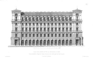 A Palais Ephrussi és Palais Lieben közös homlokzata (Allgemeine Bauzeitung)
