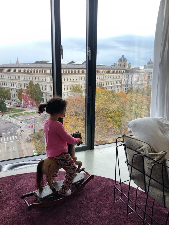 Aussicht aus einem Zimmer im 25hours Hotel beim Museumsquartier