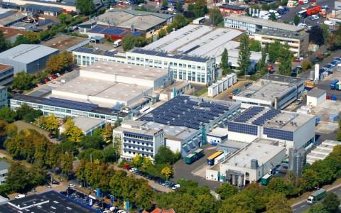 Produktionsstandort Wiesbaden, einer von 16 Dow-Standorten in Deutschland, künftig Sitz der Deutschlandzentrale des amerikanischen Chmeieunternehmens.