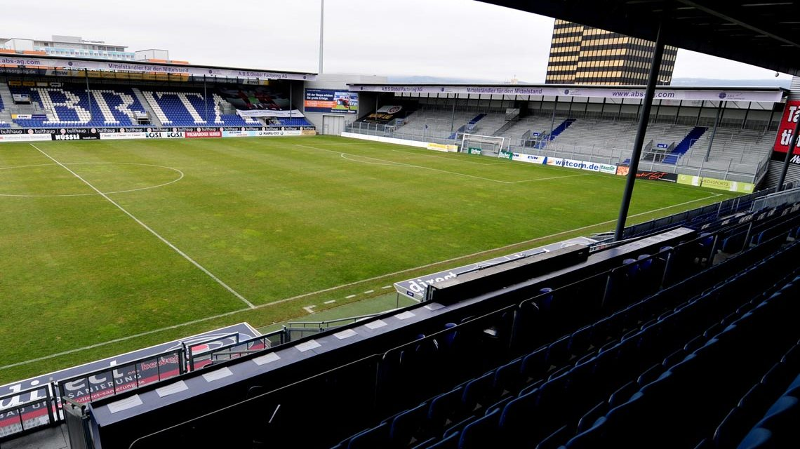Brita Arena, Heimstadion des SV Wehen Wiesbaden. Bild: Volker Watschounek