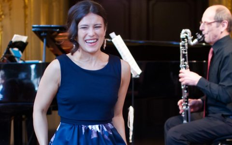 Gloria Rehm und Bernhard Hens beim 6. Kammerkonzert. Bild: Brigitta Trost