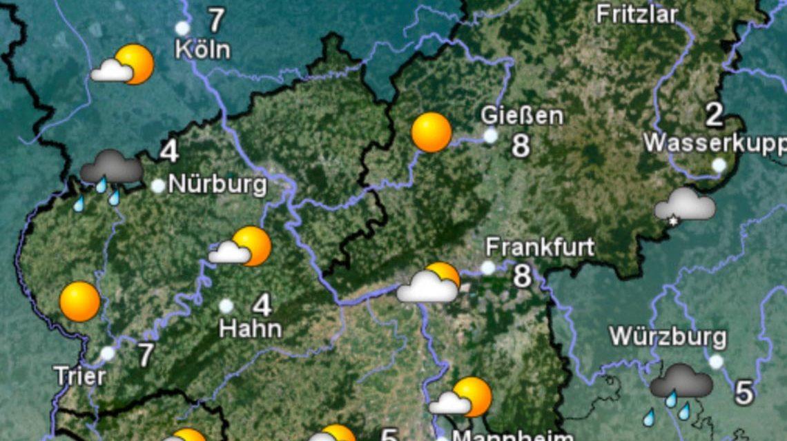 Wetterkarte des Deuschen Wetter Dienstes am 27. April. Bild: DWD