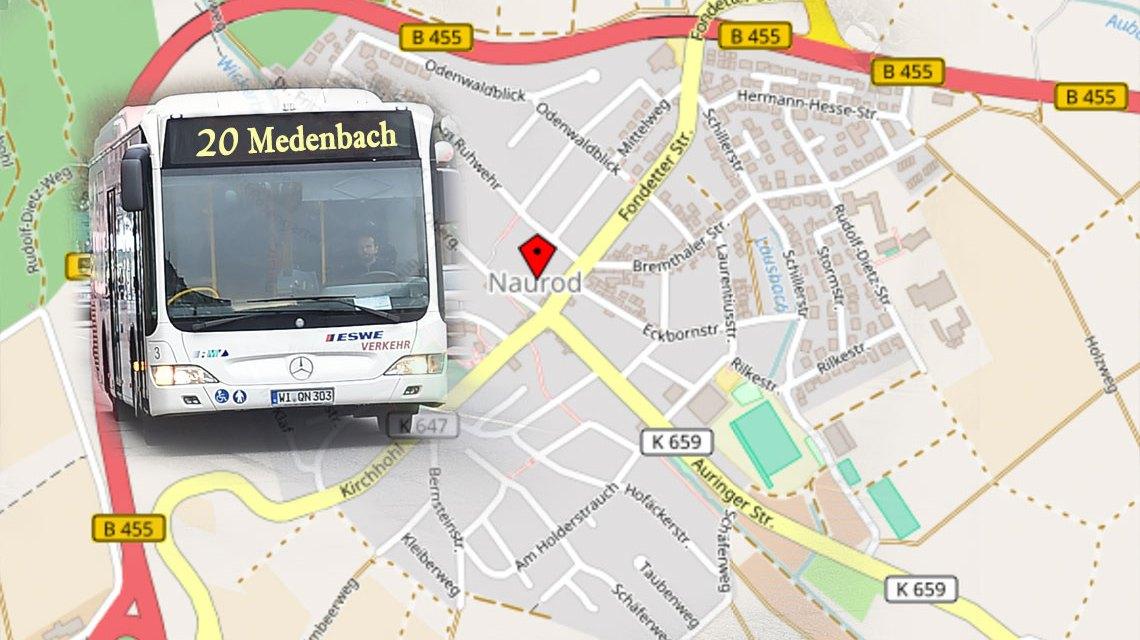 Busumleitung der Linie 20 wegen des traditionellen Äpfelblütefestes. Bild: Open Street / Volker Watschounek