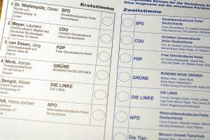 Stimmzellet zu der Bundestagswahl 2009. Bild: Awaya Legends // CC-BY / Flickr