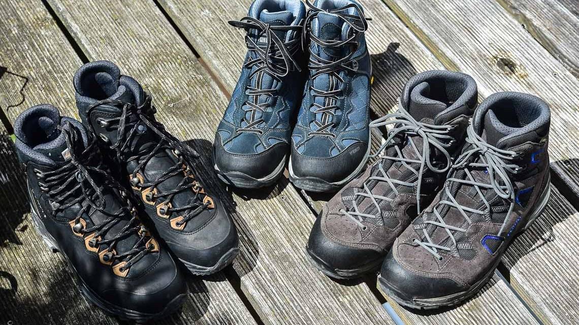 Wandertage, die Schuhe sind geputzt und geschnürt, Am Sonntag kann es losgehen. Bild: Volker Watschounek