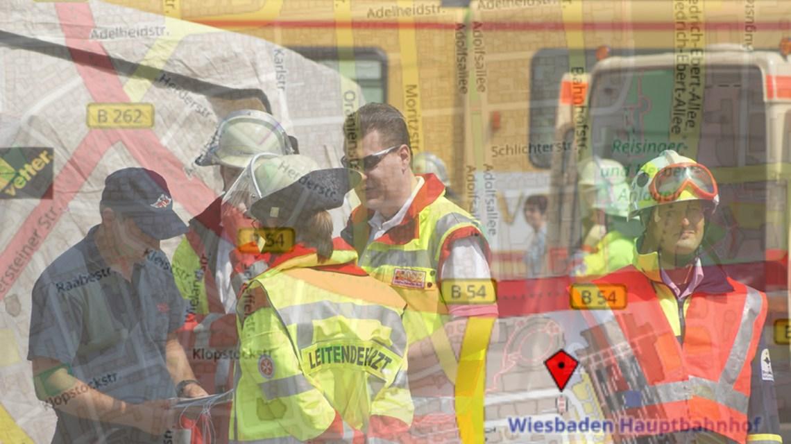 Katastrophenschutzübung am Hauptbahnhof. Bild: Openstreet / Flickr / Sebastian S.