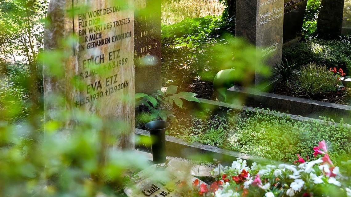 Friedhof, Grabfeld auf dem Wiesbadener Nordfriedhof. Bild: Volker Watschounek